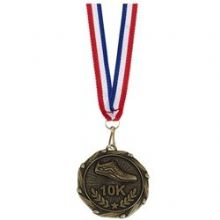 45mm Unisex 10K Run Medal Ribbon AM915GY